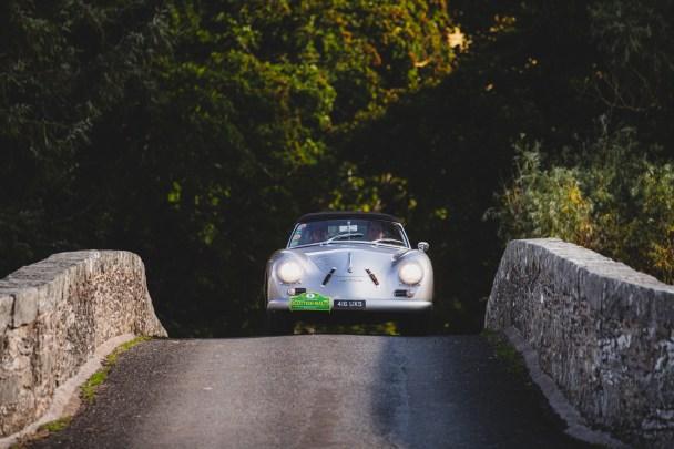 """Scottish Malts 2021,""""8 Christian von Sanden + Alexander von Bernewitz , Porsche 356 Convertible D"""" , day 4, The Aberdeen Altens Hotel, Aberdeen to Crieff Hydro Hotel, Crieff."""