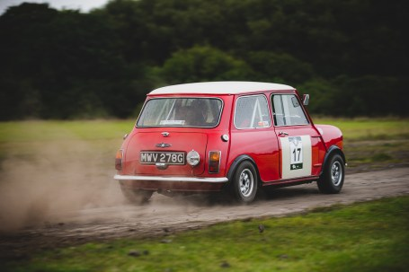 """""""17 Jon Armstrong + Phil Hall , Mini Cooper (A&D), 1968"""" Hero Challenge 3 2021, Bicester to Banbury."""