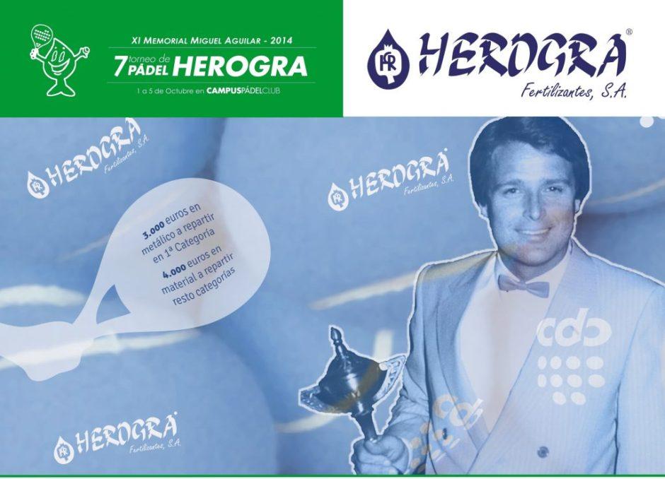 Cartel VII Torneo Padel HEROGRA