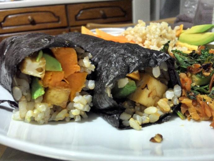 Sweet potato and avocado sushi, by Luke Jones of Health Room