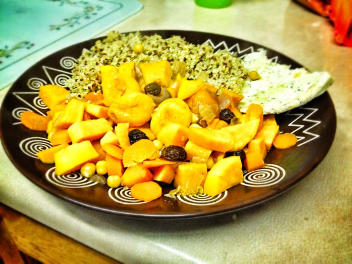 Sweet Potato Tagine, Health Room