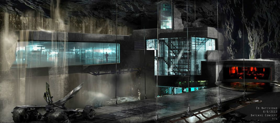 Batwing Batmobile And Batcave Concept Art From BvS