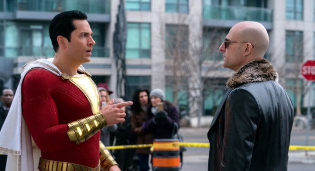 Zachary Levi Shazam Mark Strong Sivana