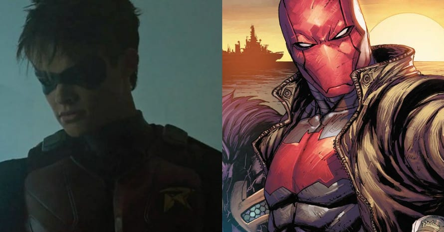 'Titans' Star Curran Walters Shows Off Red Hood's Suit Logo