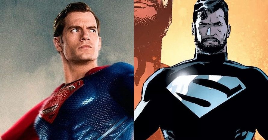 Henry Cavill Black Superman suit Justice League