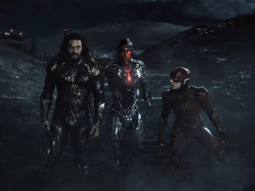Jason Momoa Aquaman Ray Fisher Cyborg Ezra Miller The Flash
