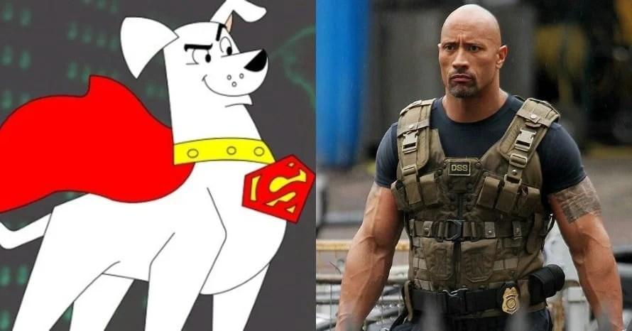 Dwayne Johnson Kevin Hart Keanu Reeves DC League of Super-Pets