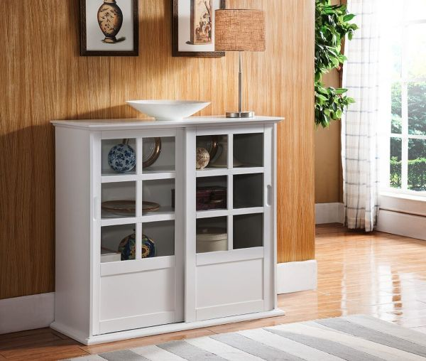 White Curio Cabinets for Sale for Minimalist Room