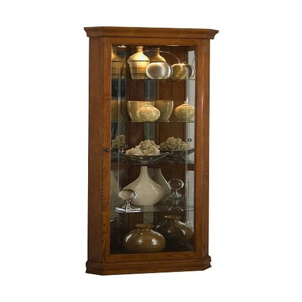Corner Lighted Curio Cabinet in Mahogany The Advantages