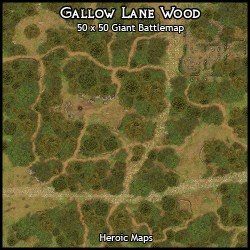 Heroic Maps Giant Maps: Gallow Lane Woods Heroic Maps Buildings Wilderness Roads Rivers Countryside Giant Maps Forests Dungeon Masters Guild