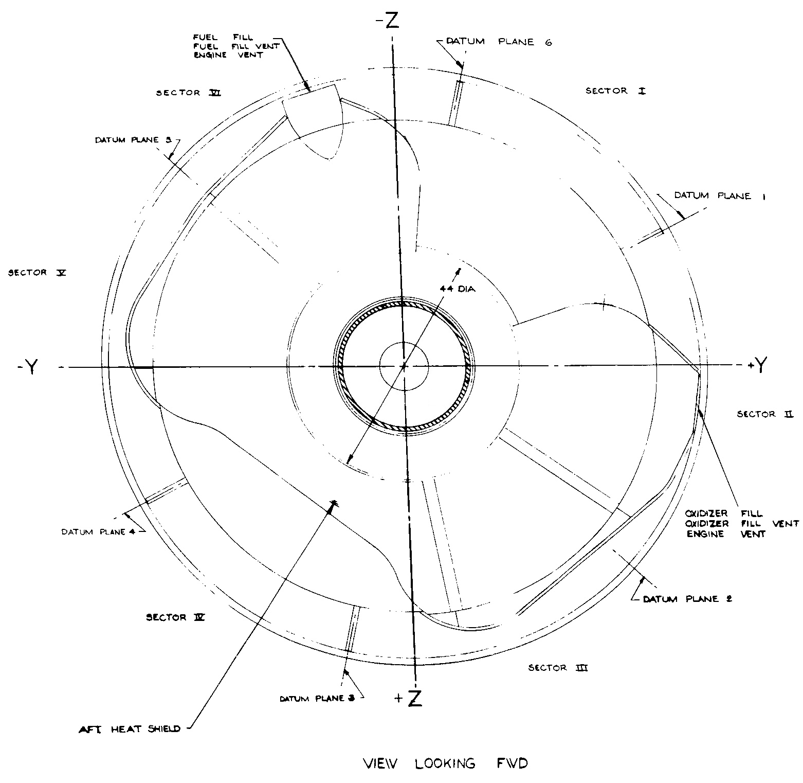 hight resolution of apollo service module service propulsion system sps servicing connections