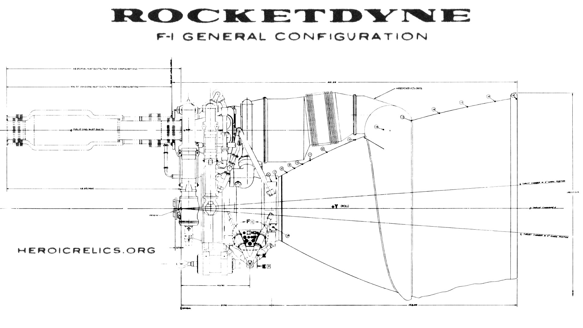 F 1 Rocket Engine General Configuration