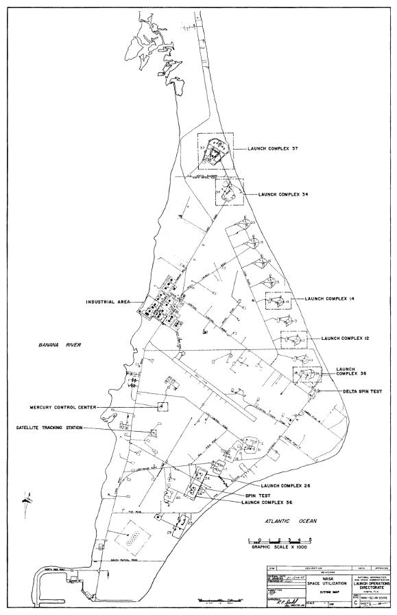 Cape Canaveral Air Force Station Maps