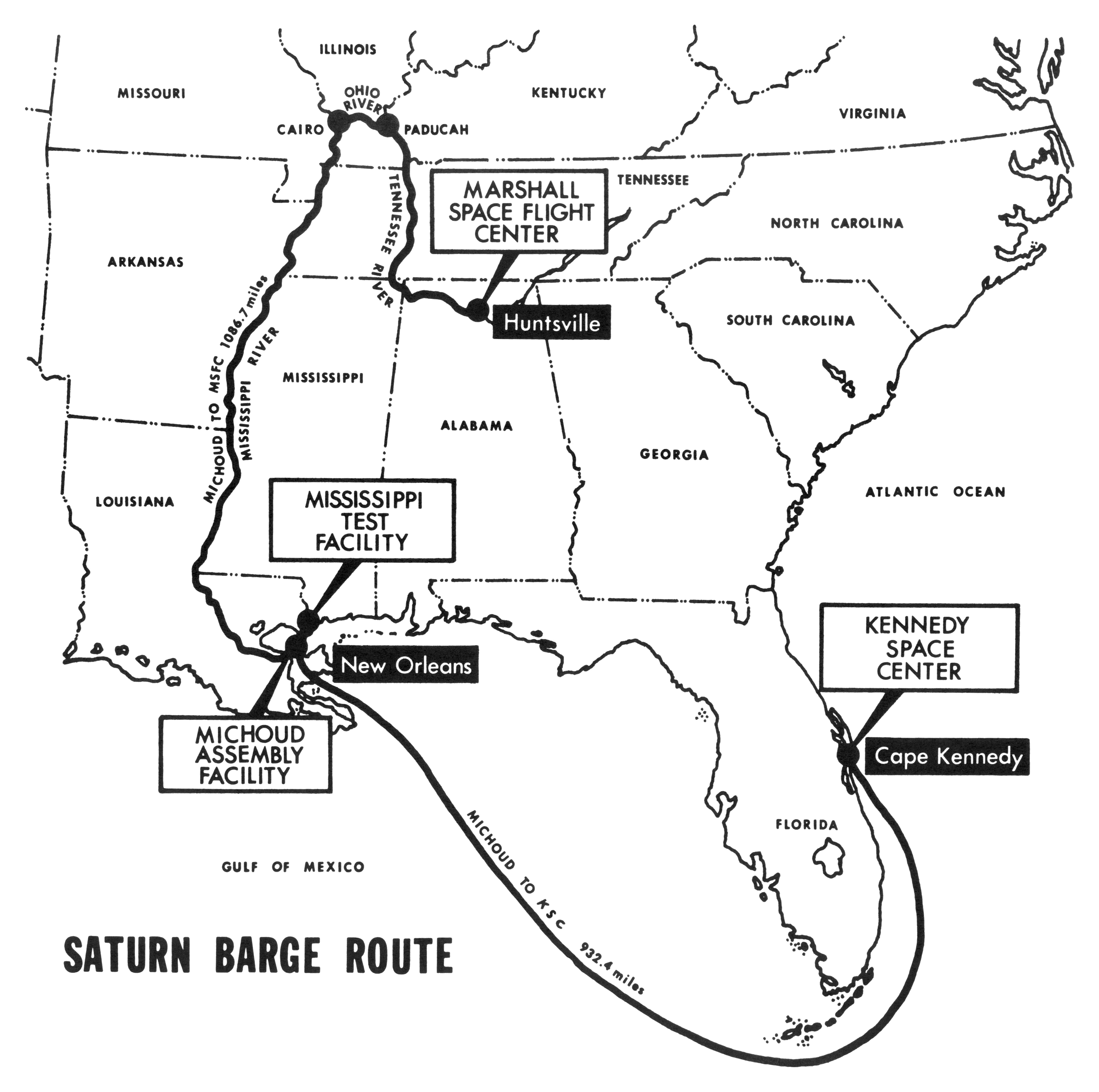 Saturn Barge Routes