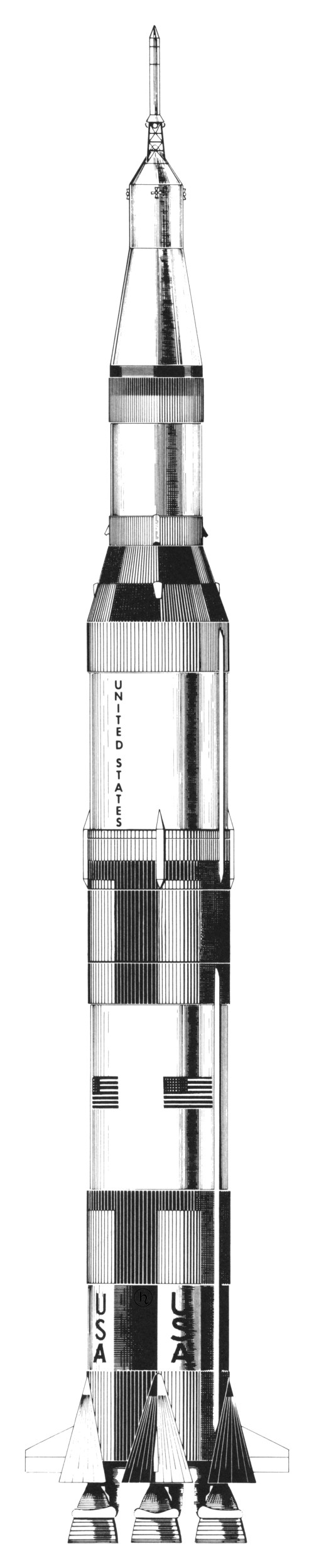 small resolution of saturn v diagram showing sa 510 apollo 15 s launch vehicle