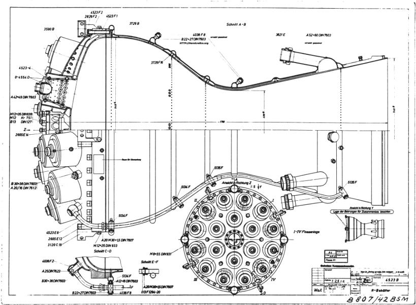 V-2 Combustion Chamber Cutaways