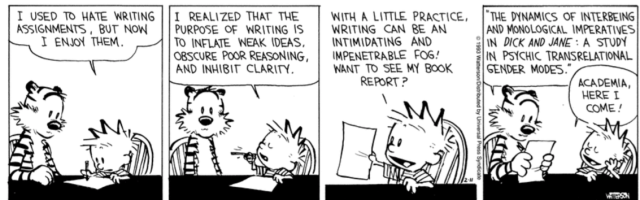 Calvin and Hobbes Writing
