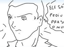 M. Barreto dono do Herói X em desenho