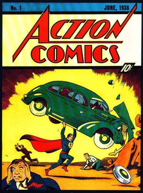 Superman na capa da action comics número 1
