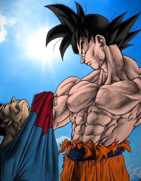 Goku vence Superman
