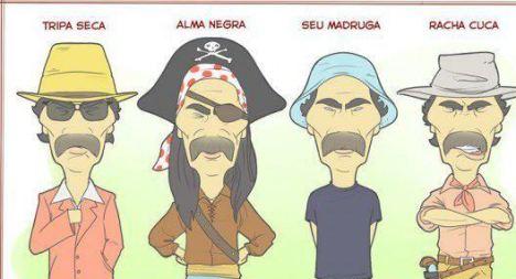 Seu Madruga e outros personagens de Don Ramon