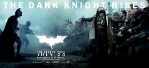 The Dark Knight Rises poster batman versus bane