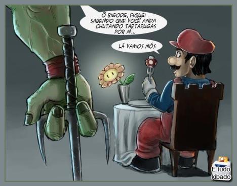 Mario versus Rafael tartaruga ninja