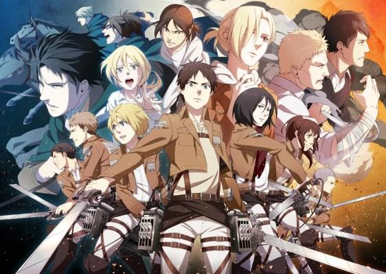 Shingeki no Kyojin todos os personagens reunidos