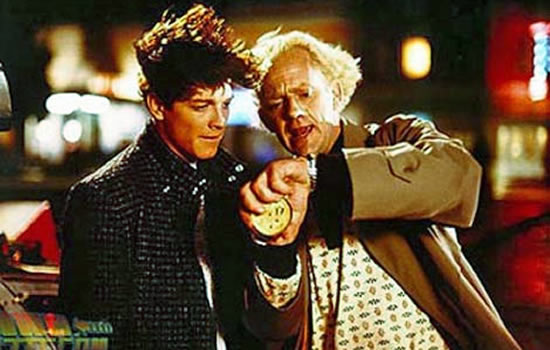 Eric Stoltz em De Volta para o Futuro com Doc Brown