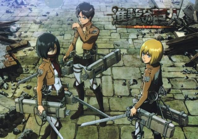 Eren, Mikasa e Armin Attack on Titan Shingeki no Kyojin