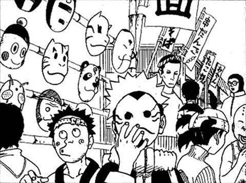 Máscara de Chaoz em Naruto