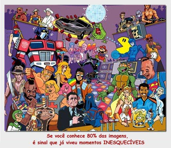 herois e desenhos animados dos anos 80 e 90