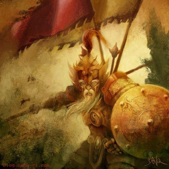 Dohko de Libra velho com armadura