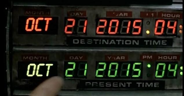 Dia em que Marty McFly chega no futuro: 21 de outubro de 2015!