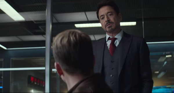 Tony Stark e Steve Rogers Capitão América 3