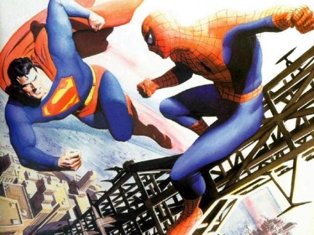 Marvel e DC Comics Superman vs Homem Aranha