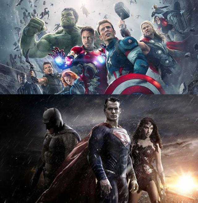 Vingadores e Liga da Justiça Marvel e DC Comics