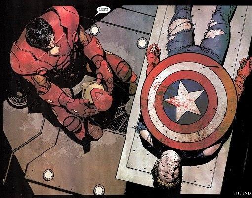 Capitão América morreu Guerra Civil Homem de Ferro