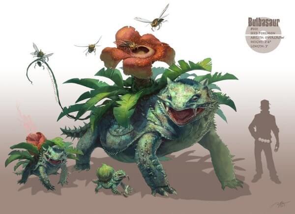 pokemons monstros bulbasaur venosaur