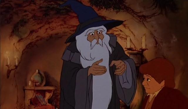 o senhor dos aneis desenho animado gandalf