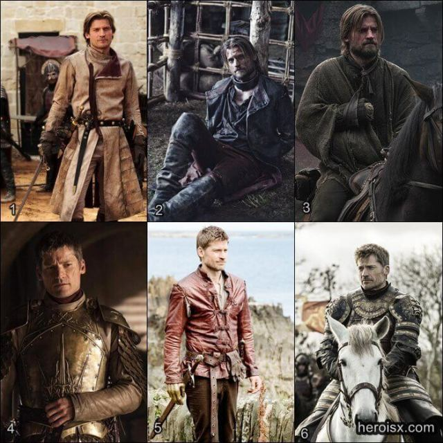 Jaime Lannister Temporadas 1 a 6 Game of Thrones antes e depois