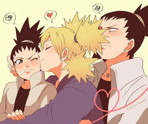 Shikadai Shikamaru Temari casais de Naruto