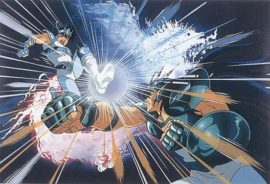 Seiya de Pegaso OCE versus Shiryu de Dragão OCE Armaduras dos Cavaleiros do Zodíaco