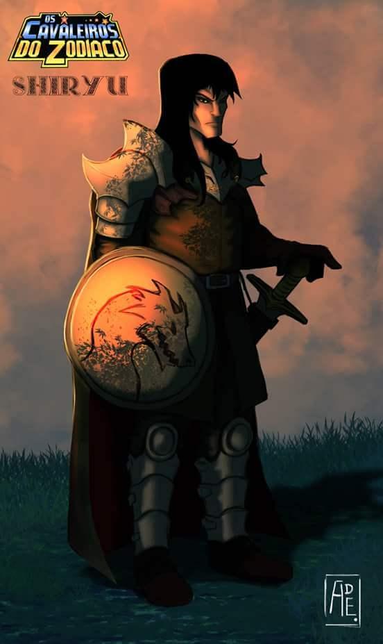 Cavaleiros do Zodíaco medievais Shiryu de Dragão