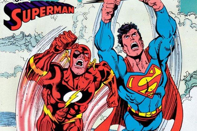 Flash vs Superman quadrinhos