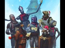 Personagens Star Wars natal bobba fett bounty hunters