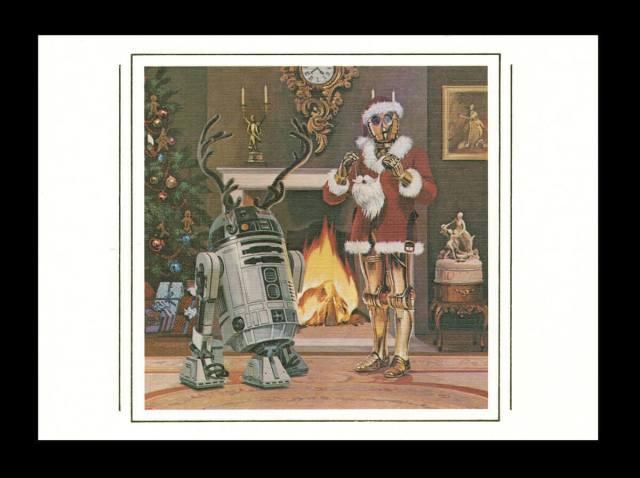Personagens Star Wars natal r2 d2 e c3po papai noel santa claus