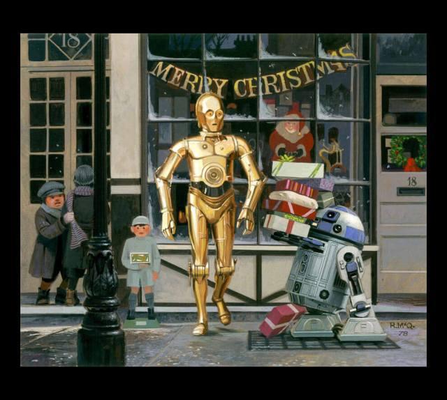 Personagens Star Wars natal r2 d2 e c3po