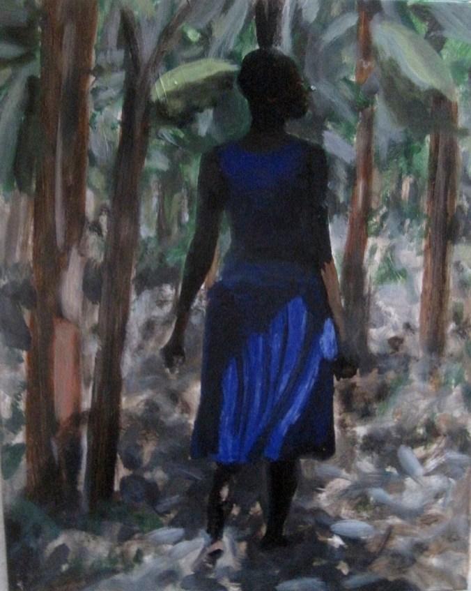 L'africaine II (50 x 50 cm)