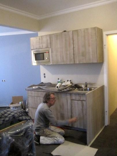 Einbauküche während der Umbauphase